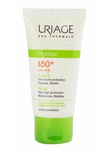 Uriage Uriage Hyseac Fluide Spf 50 + 50 ml Renksiz